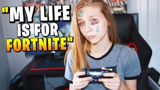 Girl Won't Stop PLAYING Until She Gets A Fortnite Win...