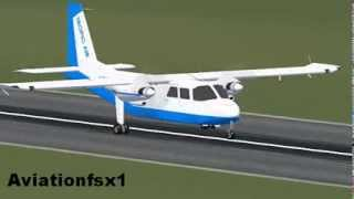 FSX: BN-2 landing in St.Barts
