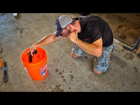 Firing A Pistol Submerged In Gasoline...