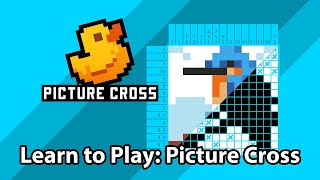 How to Play Picture Cross (Picross / Nonograms / Griddlers)