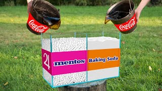 Experiment: Coca Cola VS Mentos & Coca Cola VS Baking Soda