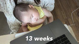 13주차백일상준비(셀프 초대장, 포토북 제작), 아기띠…