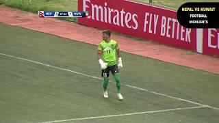 NEPAL VS KUWAIT FOOTBALL HIGHLIGHTS