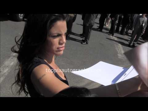 Vanessa Ferlito  Signing Autographs at the USA Upfront in NYC