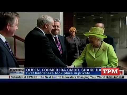 Queen Elizabeth II Meets,  Shakes Hands With Martin McGuinness