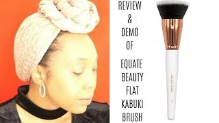 Equate beauty foundation brush review and demonstration | Walmart Beauty Brand | Roxie Stars
