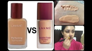 Lakme Invisible Foundation Vs Lakme Perfecting Liquid Foundation