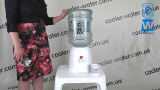 Обзор раздатчик для воды PD-02. Пластиковый диспенсер для воды PD 02. Кулер в школу PD02
