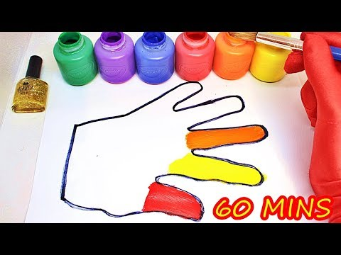Body Painting Learning Coloring Page Video for Children | Learn Colors with surprise toys & Songs