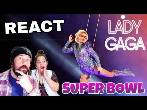 REAGINDO: LADY GAGA - SUPER BOWL  REACT