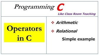 operators in c | arithmetic, relational |