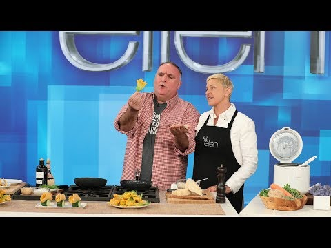 José Andrés and Ellen Say Cheers to Vegetables