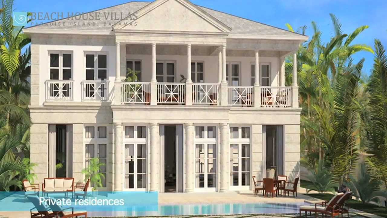 Beach house villas paradise island bahamas youtube for Beach houses for rent in bahamas