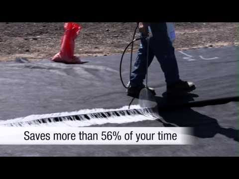 Geotextile Seaming Solutions using 3M™ HolFast 70 Cylinder Spray Adhesive