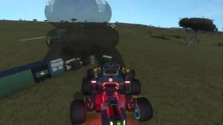 Space Engineers Planet Base and Engineering Vehicle