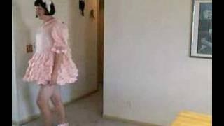 Put into a sissy dress