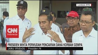 Video Jokowi Minta Permudah Pencairan Dana Korban Gempa Lombok download MP3, 3GP, MP4, WEBM, AVI, FLV Oktober 2018