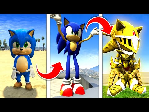 How To UPGRADE SONIC Into A GOD In GTA 5 ... (Secret Powers!) - GTA 5 Mods Funny Gameplay