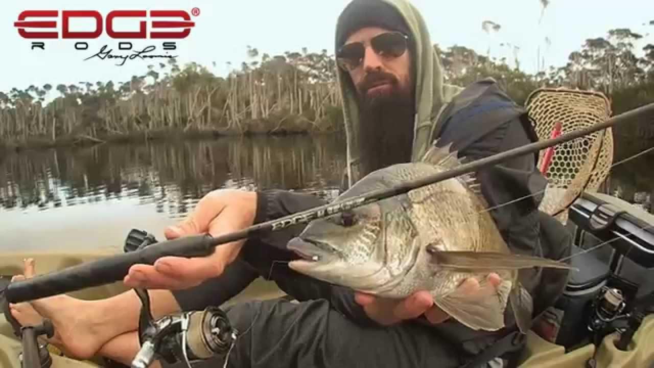 Kayak bream fishing edge rods by gary loomis youtube for Edge fishing rods