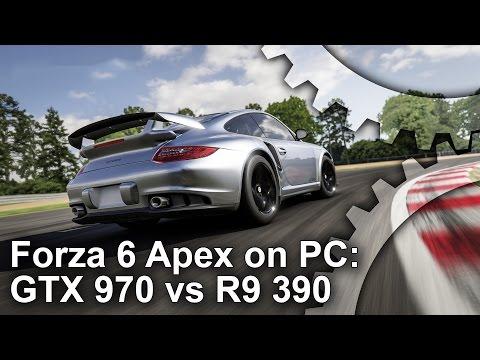 Forza Motorsport 6 Apex: GTX 970 vs R9 390 Gameplay Frame-Rate Test