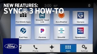 SYNC®3: New Features | SYNC 3 How-To | Ford