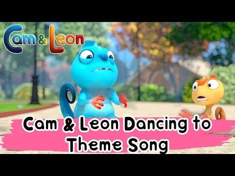Hilarious Children Cartoon | Cam & Leon Dancing To Theme Song | Cam & Leon