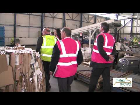 Alun Davies Ministers Visit at Metech Recycling