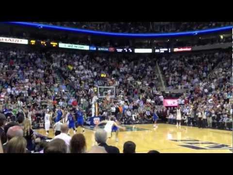 Millsap Smash! (Dallas at Utah game tying dunk)