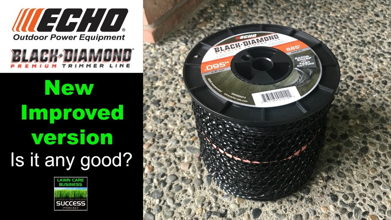 New and Improved ECHO Black Diamond - Best string trimmer line