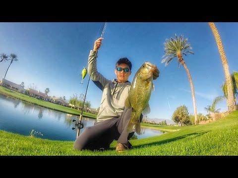 Golf Course Fishing California GoPro Bass Fishing