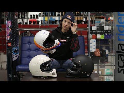 Ретро снова в моде! Новый шлем Shoei EX-Zero в руках известной мотогонщицы Анастасии Нифонтовой