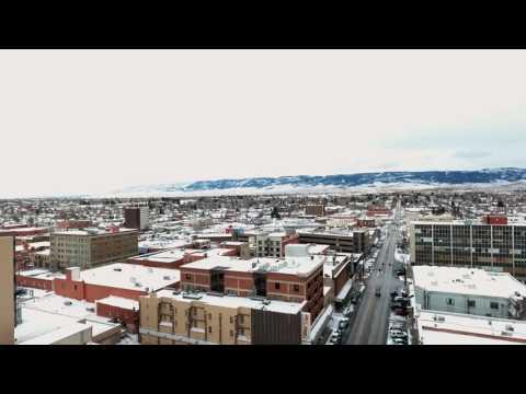 Snow in Downtown Casper, Wyoming Nov 2016