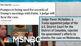 Judge Allows Lawsuit Seeking Trump-Putin Call Records | Rachel Maddow | MSNBC