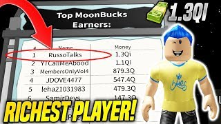 I AM THE RICHEST PLAYER ON THE MOON IN BILLIONAIRE SIMULATOR UPDATE!! *#1 ON LEADERBOARDS* (Roblox)