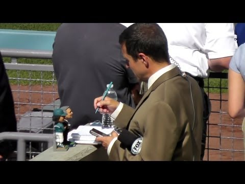 Ken Rosenthal of Fox Brings His Toys to Dodger Stadium