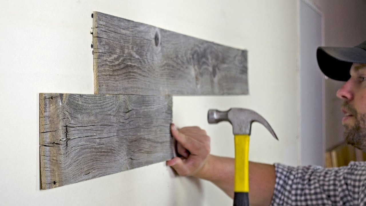 Wood Accent Wall Installation Instructions Youtube