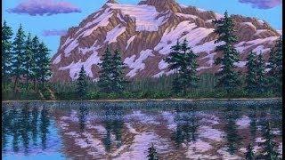 Hvordan male et fjell og innsjø 4 bruker akryl på lerret