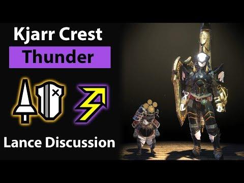 Kjarr Crest Thunder Lance Discussion (full commentary) Monster Hunter: World thumbnail
