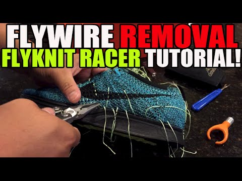 Nike Flywire Removal Tutorial! (Flyknit Racer Custom pt 2)