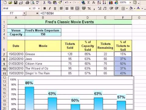 microsoft excel tutorial for beginners 15 percentages more