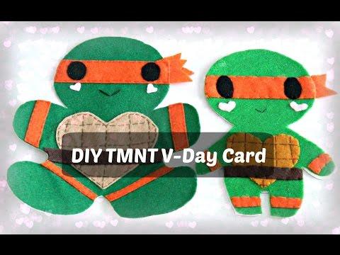 DIY Valentine's Day Card | TMNT Michaelangelo