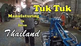 A look at a Tuk Tuk Manufacture shop in Isean Thailand and eating KFC