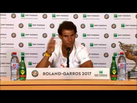 Rafael Nadal Roland Garros 2017 Champion Press Conference