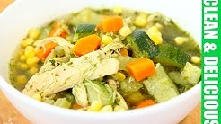 Immunity Boosting Green Chicken + Veggie Soup Recipe