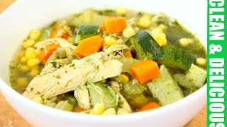 Immunity Boosting Green Chicken + Veggie Soup - Clean&delicious®