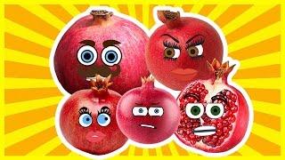 Pomegranate Finger Family Song Nursery Rhymes for Kids   Finger Family Fruits