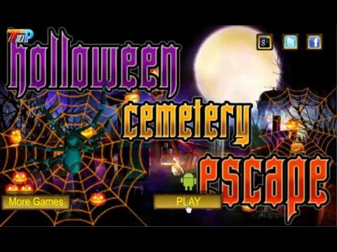 Halloween Cemetery Escape Walkthrough Youtube