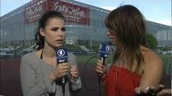 Liveschalte nach Düsseldorf vor der ESPRIT Arena mit Sabine Heinrich und Lena Meyer-Landrut