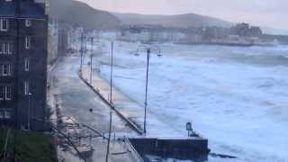 Huge Storm Waves Aberystwyth 3 January 2014