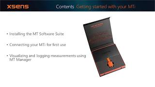 Xsens MTi Tutorial: Getting started with your Xsens MTi motion tracker